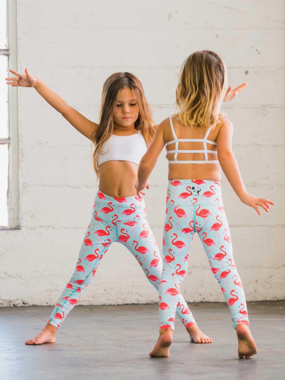 6557fb537a Flamingo Flexi Yoga Pants Kids and Minis - Starlinedance