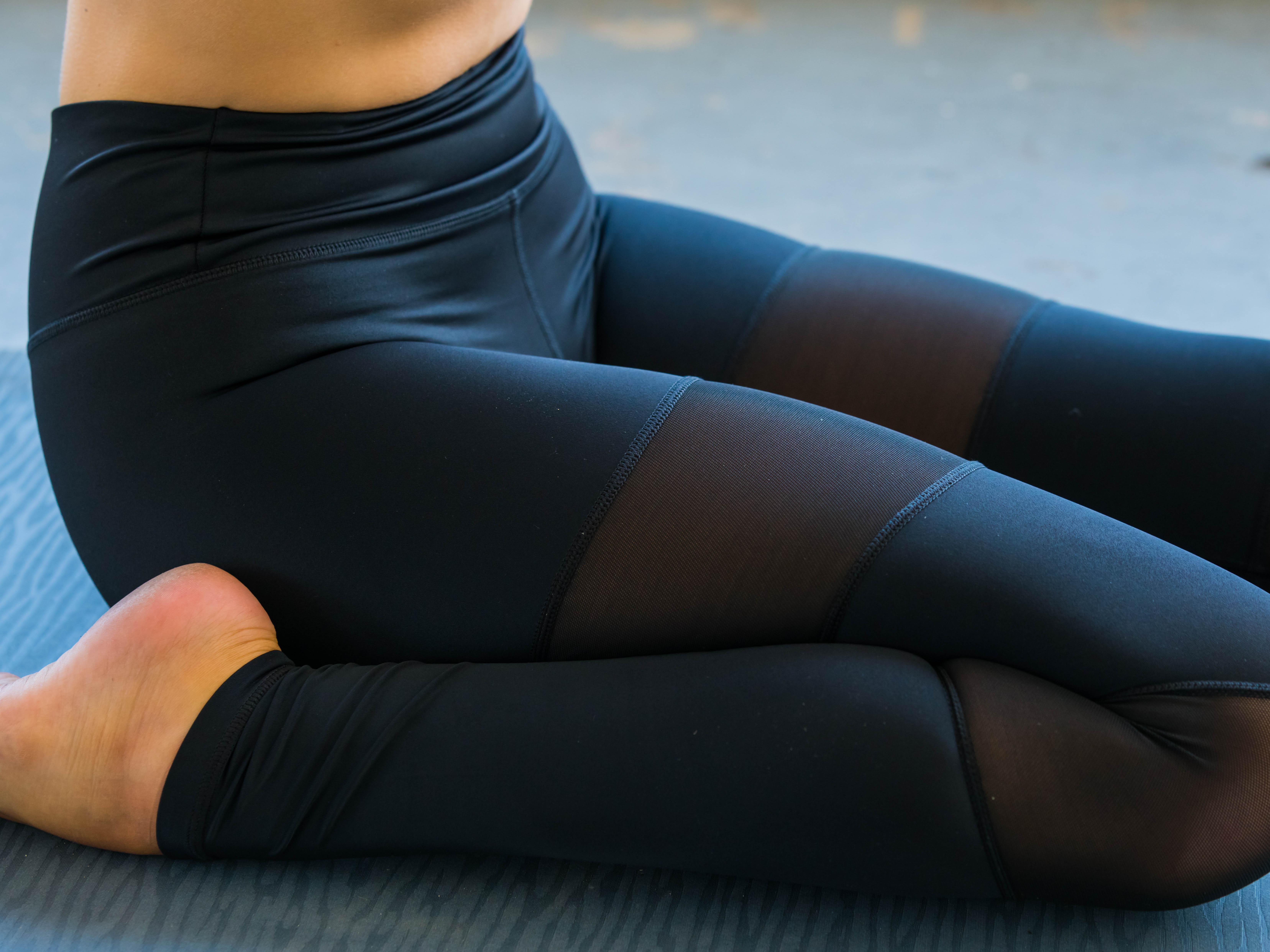 a3dcfbe907 Black Mesh Yoga Pants - Starlinedance